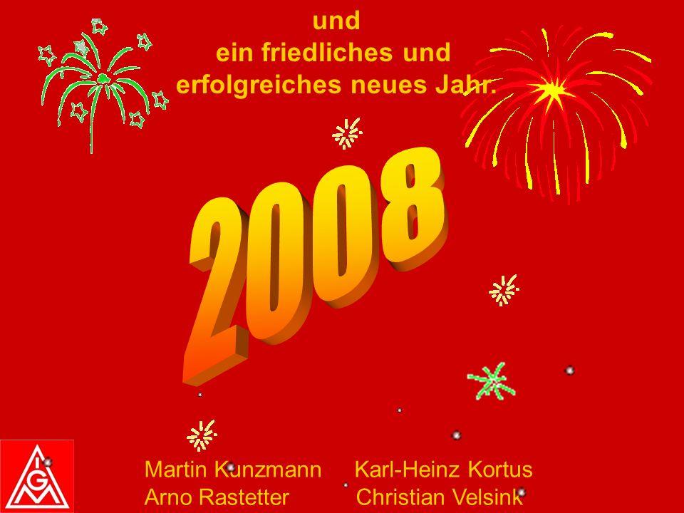 Liebe Kolleginnen und Kollegen, die IG-Metall Pforzheim wünscht euch, euren Familien und Freunden ein geruhsames Weihnachtsfest
