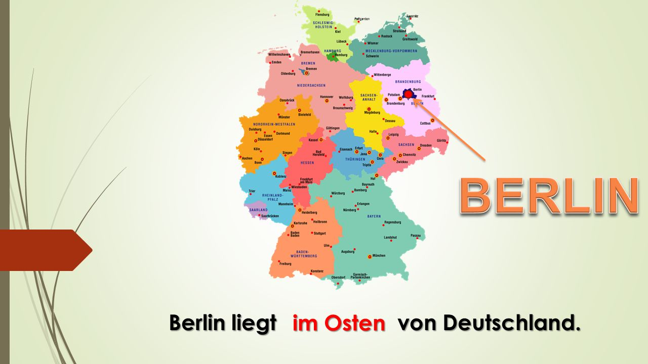 Berlin ist seit 1990 von Deutschland. die Hauptstadt