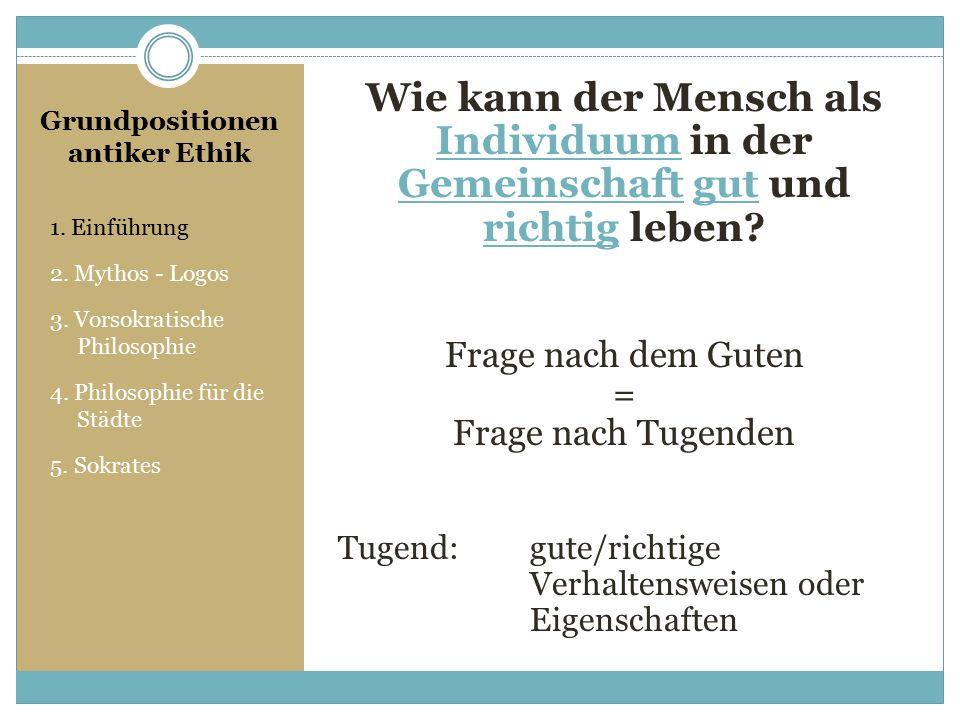 1.Einführung 2. Mythos - Logos 3. Vorsokratische Philosophie 4.