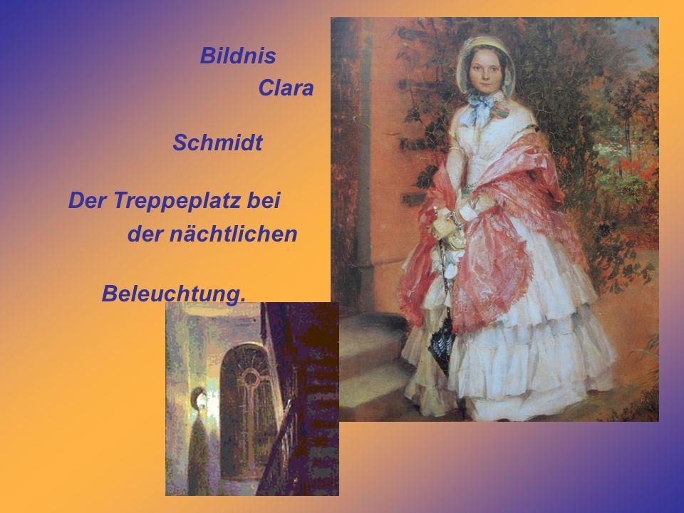 Bildnis Clara Schmidt Der Treppeplatz bei der nächtlichen Beleuchtung.