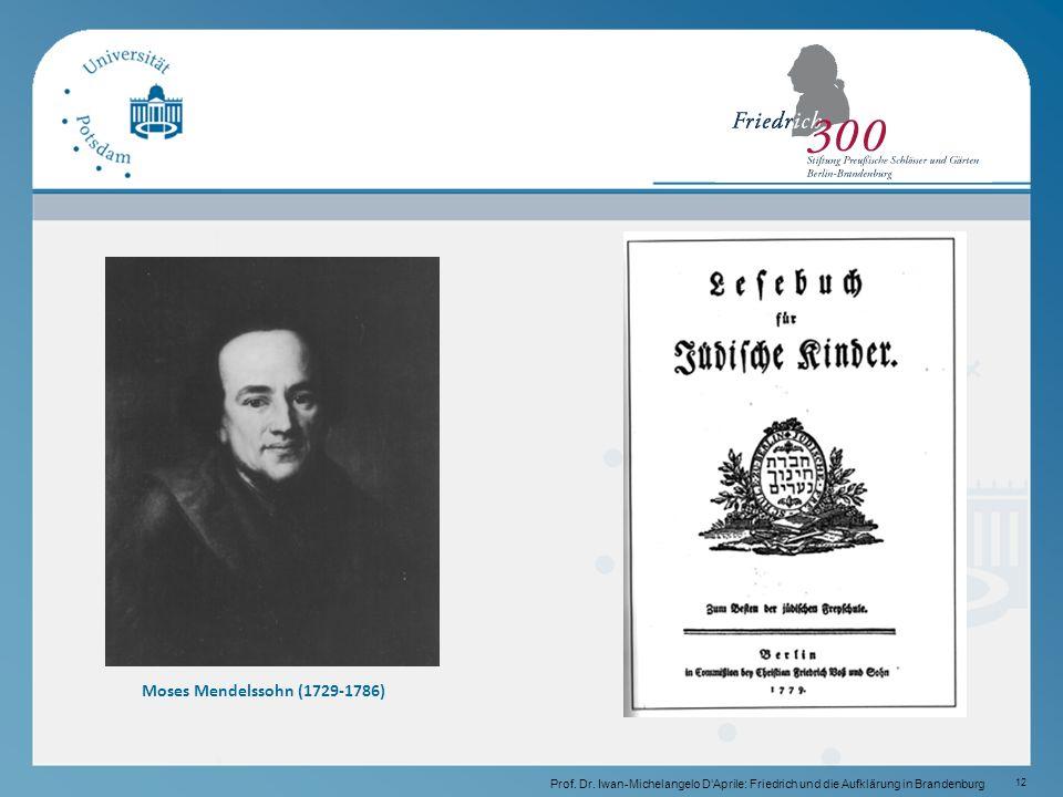 12 Moses Mendelssohn (1729-1786) Prof.Dr.