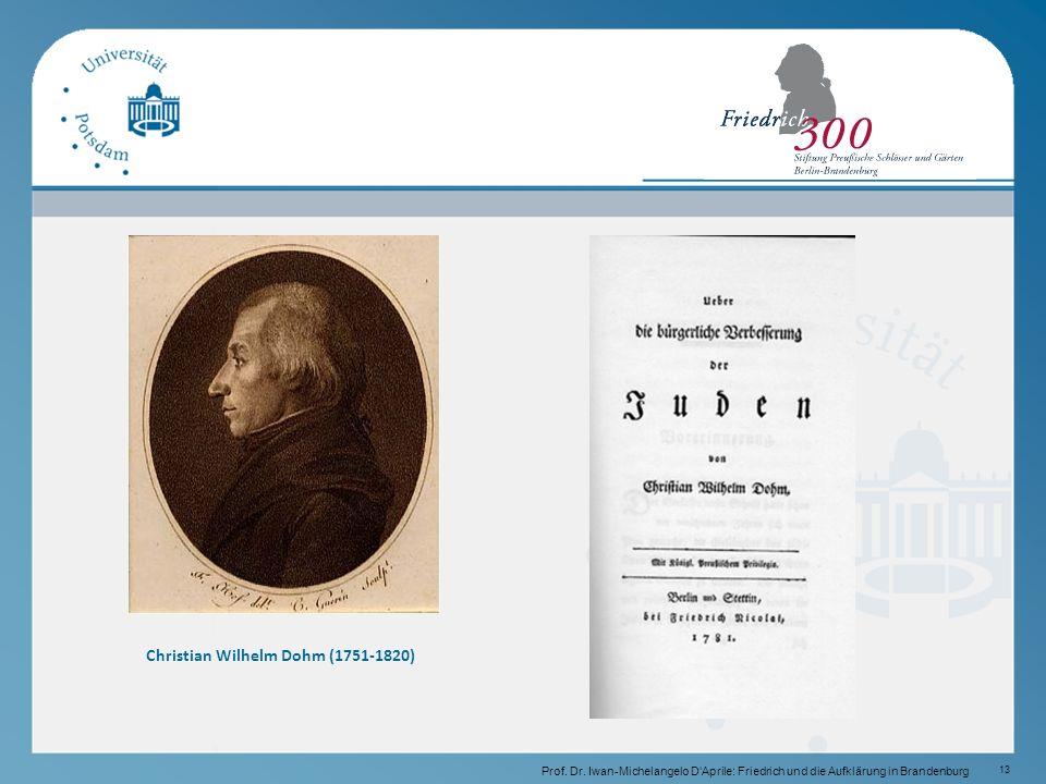 13 Christian Wilhelm Dohm (1751-1820) Prof.Dr.