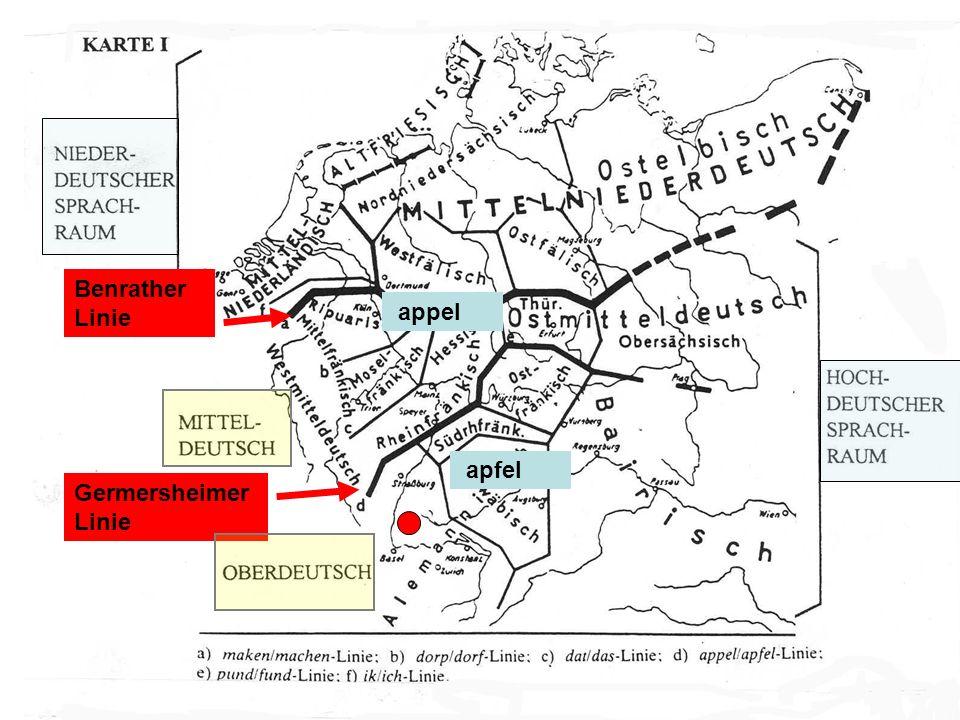 Benrather Linie Germersheimer Linie appel apfel