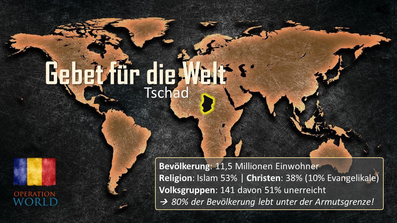 Bevölkerung: 11,5 Millionen Einwohner Religion: Islam 53% | Christen: 38% (10% Evangelikale) Volksgruppen: 141 davon 51% unerreicht  80% der Bevölkerung lebt unter der Armutsgrenze.