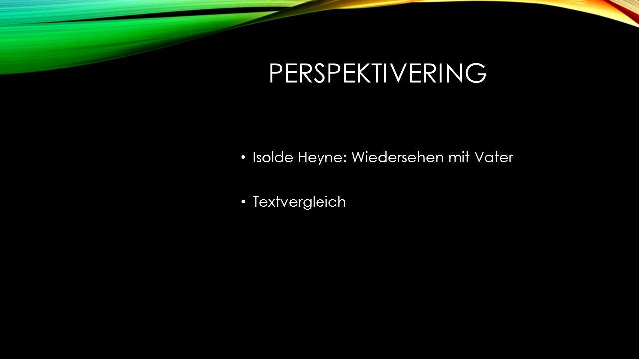 PERSPEKTIVERING Isolde Heyne: Wiedersehen mit Vater Textvergleich