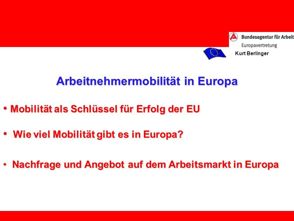 Kurt Berlinger Wie viel Mobilität gibt es in Europa.