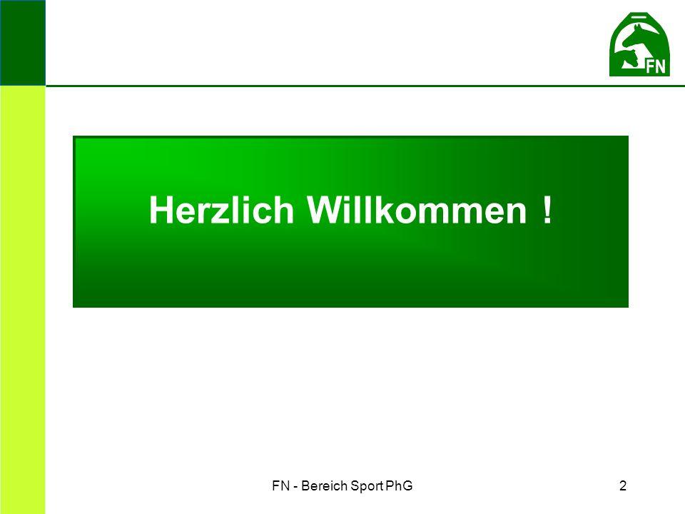 FN - Bereich Sport PhG2 Herzlich Willkommen !