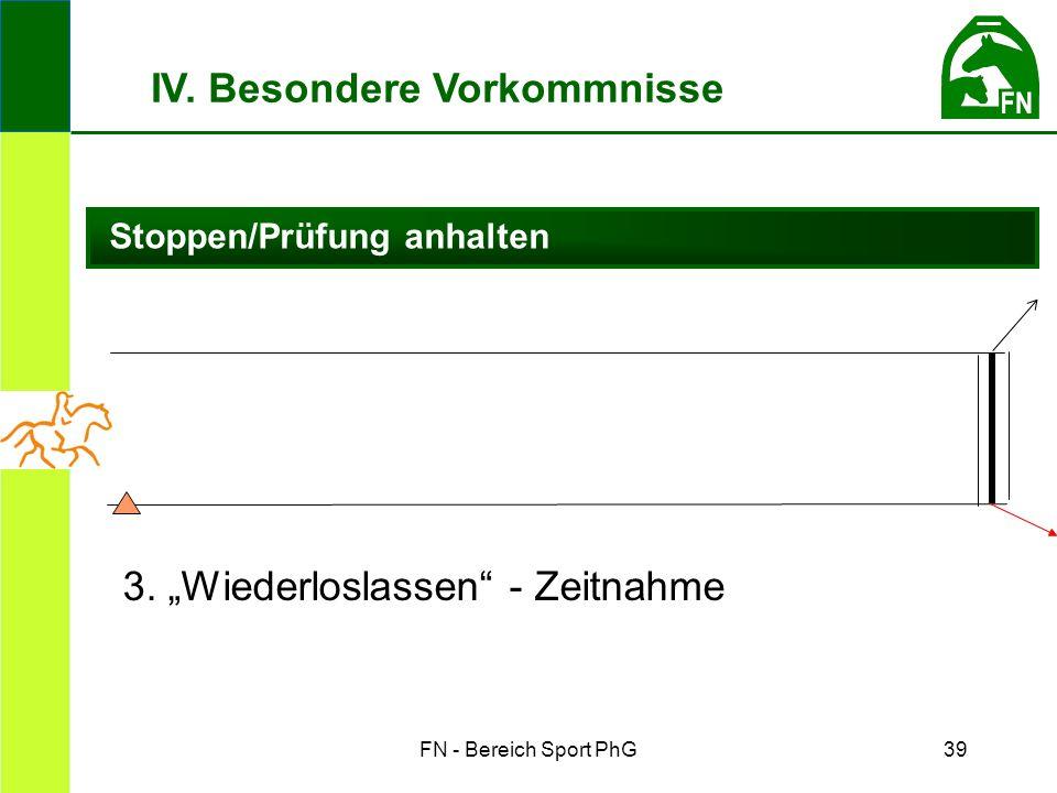 FN - Bereich Sport PhG39 Stoppen/Prüfung anhalten IV.
