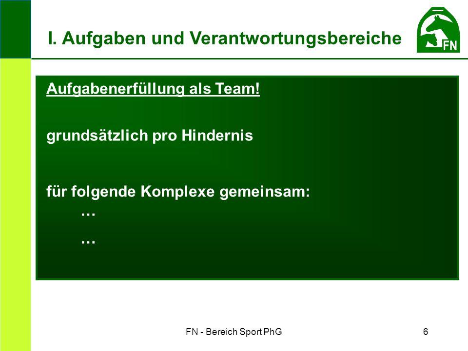 FN - Bereich Sport PhG6 Aufgabenerfüllung als Team.