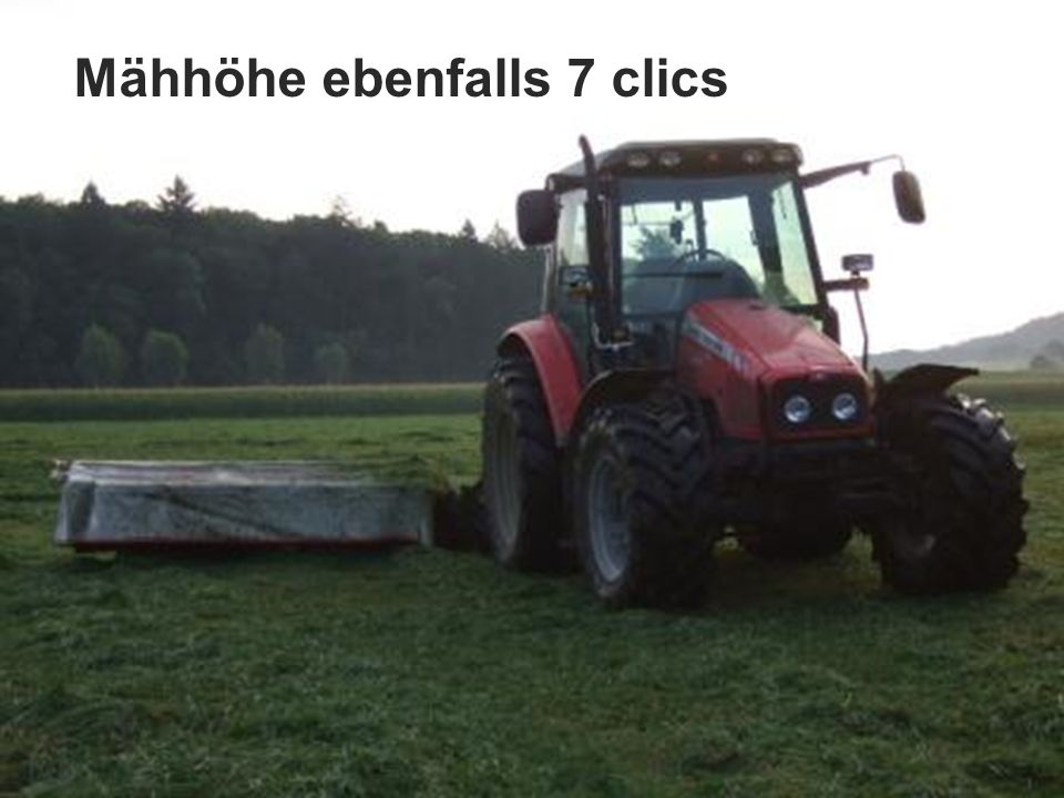 Mähhöhe ebenfalls 7 clics