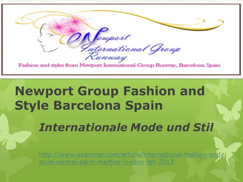 Newport Group Fashion and Style Barcelona Spain Internationale Mode und Stil   style-central-saint-martins-london-fall-2013