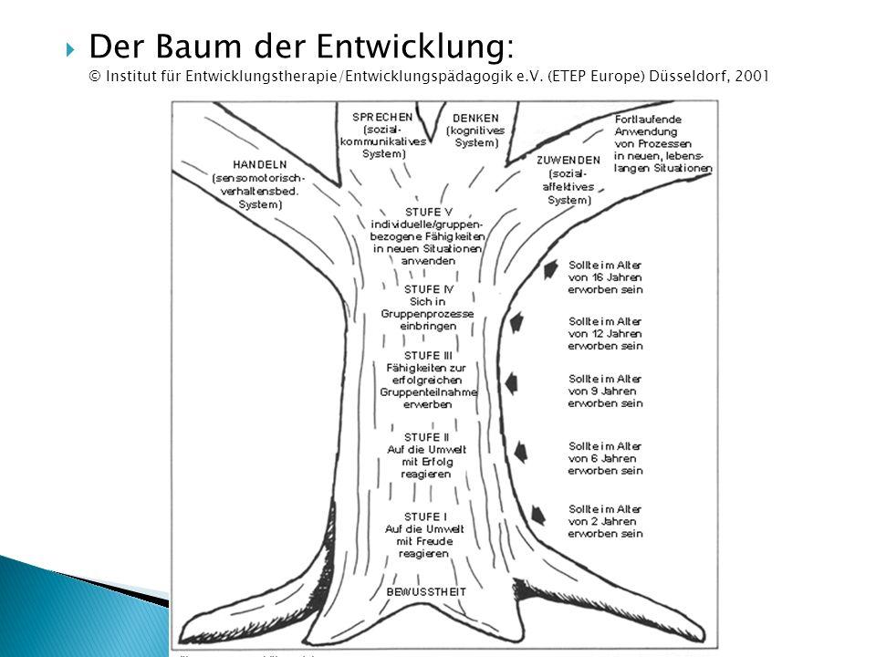  Der Baum der Entwicklung: © Institut für Entwicklungstherapie/Entwicklungspädagogik e.V. (ETEP Europe) Düsseldorf, 2001