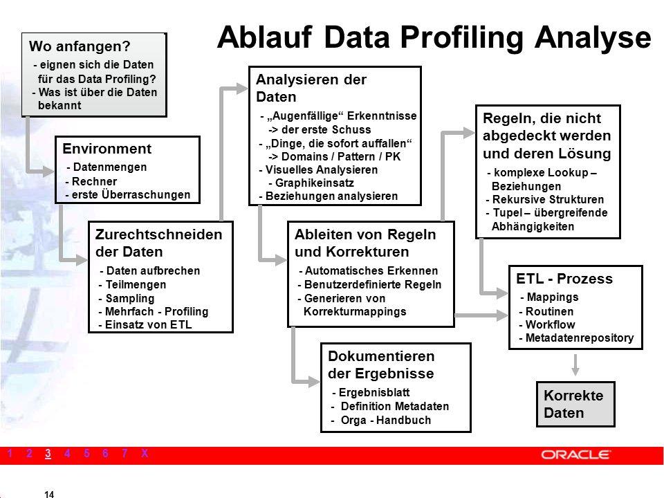 14 Wo anfangen. - eignen sich die Daten für das Data Profiling.