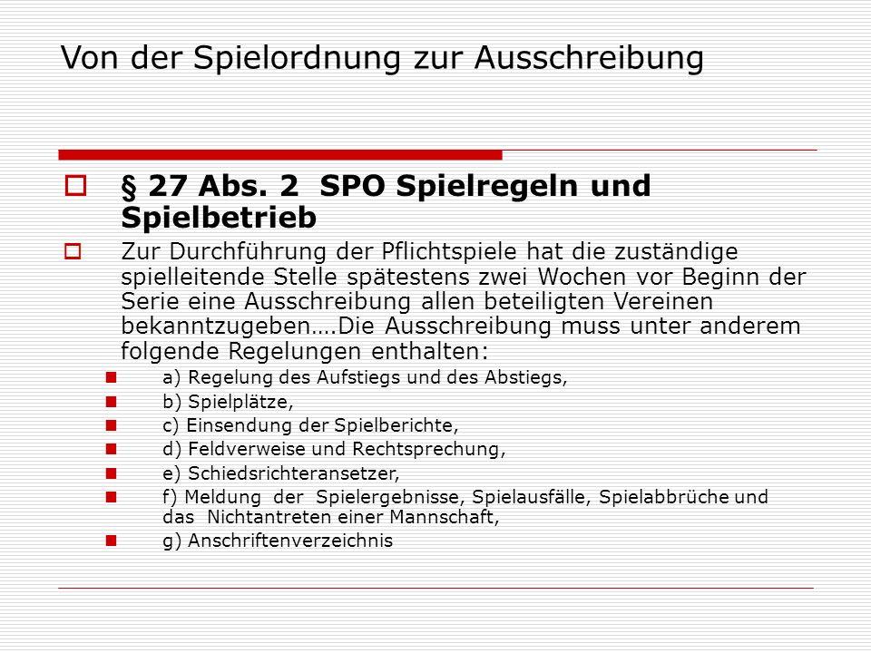 Aufstiegsregelung Ausschreibung  Aufstiegsregelung  Sollzahl 15 Mannschaften Kreisliga bis 3.