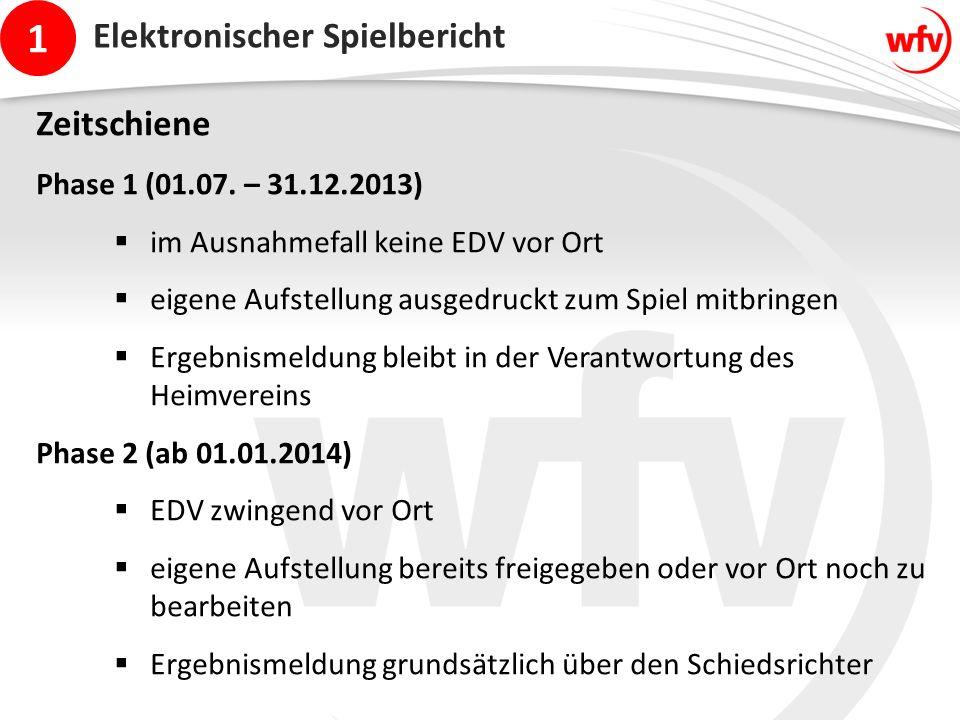 1 Elektronischer Spielbericht Zeitschiene Phase 1 (01.07.