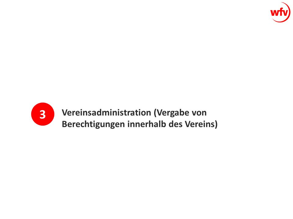 Vereinsadministration (Vergabe von Berechtigungen innerhalb des Vereins) 3