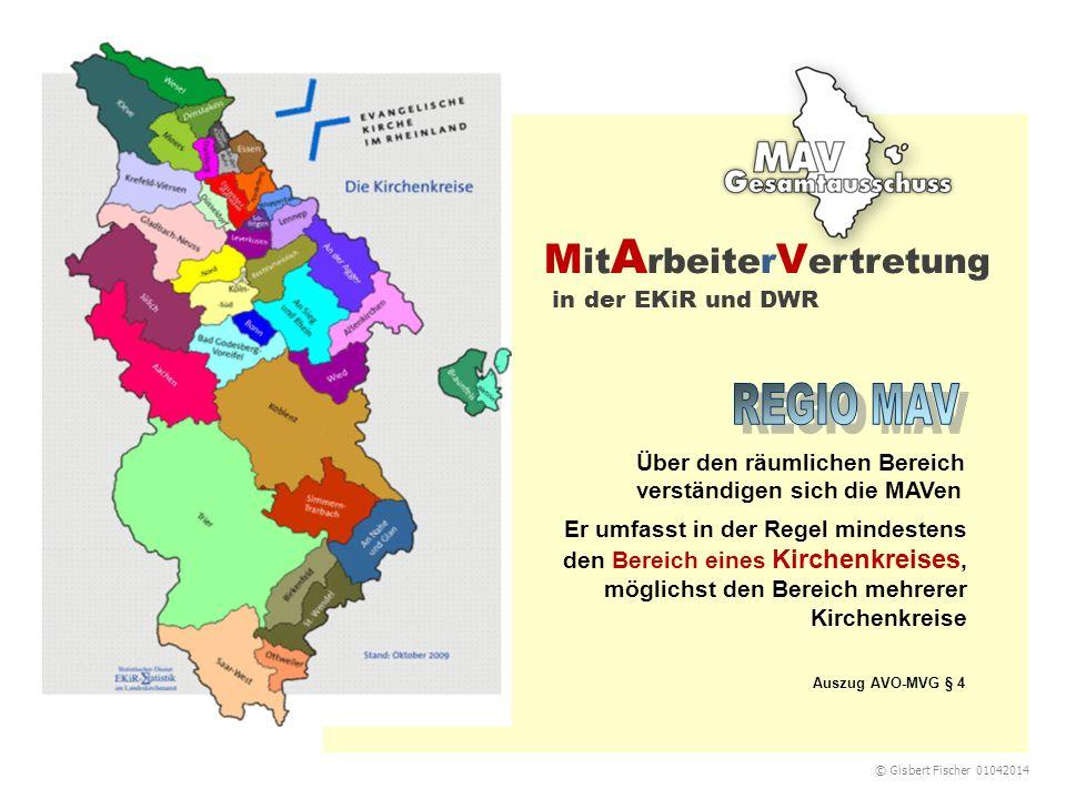 M it A rbeiter V ertretung in der EKiR und DWR Er umfasst in der Regel mindestens den Bereich eines Kirchenkreises, möglichst den Bereich mehrerer Kir