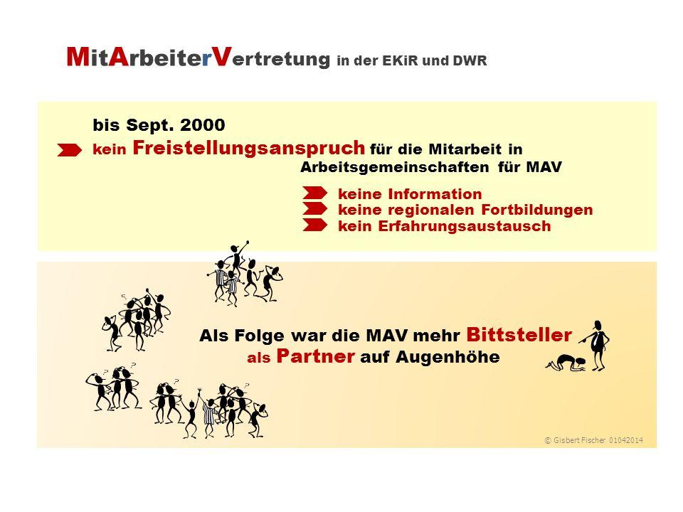 bis Sept. 2000 keine Information keine regionalen Fortbildungen kein Erfahrungsaustausch Als Folge war die MAV mehr Bittsteller als Partner auf Augenh