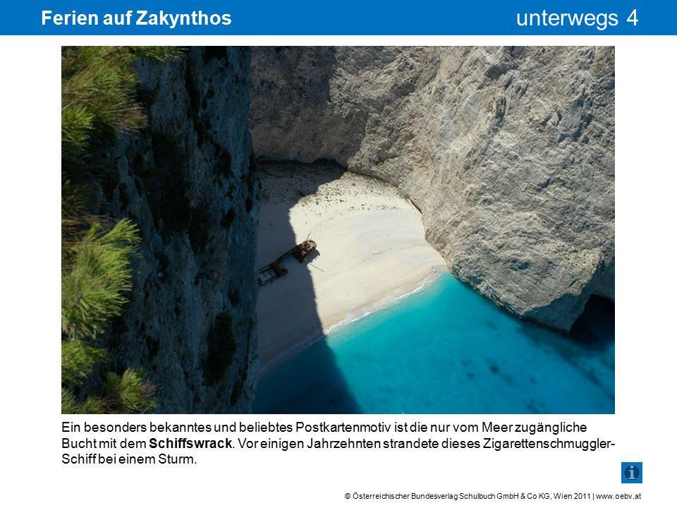 © Österreichischer Bundesverlag Schulbuch GmbH & Co KG, Wien 2011 | www.oebv.at unterwegs 4 Ferien auf Zakynthos Aufgrund dieser Marken ist jedes Tier eindeutig identifizierbar.
