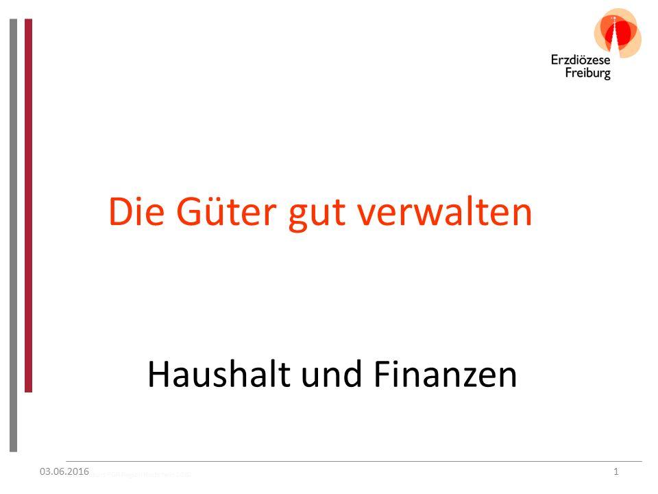 Grundkurs PGR Region Hochrhein 2010 Die Güter gut verwalten Haushalt und Finanzen 03.06.20161