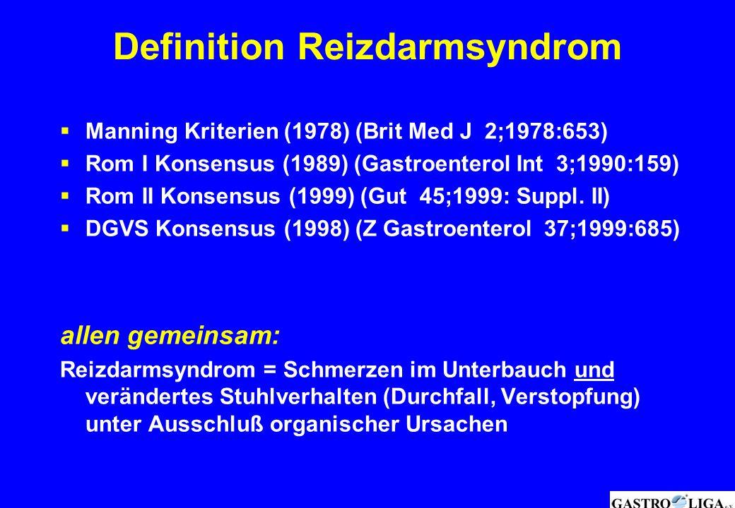  Manning Kriterien (1978) (Brit Med J 2;1978:653)  Rom I Konsensus (1989) (Gastroenterol Int 3;1990:159)  Rom II Konsensus (1999) (Gut 45;1999: Sup
