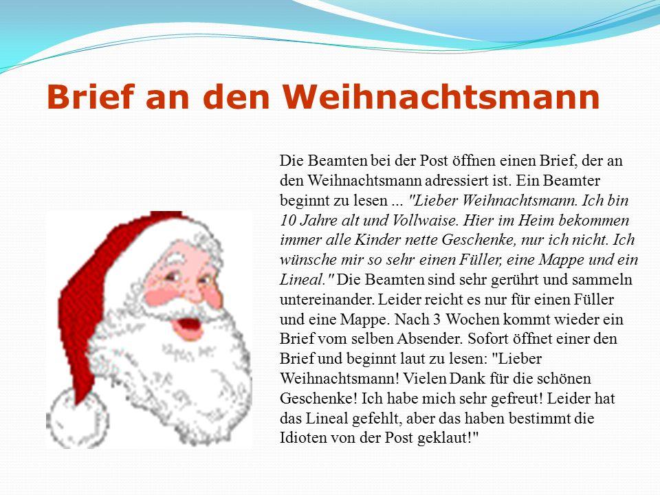 Der 50 Euro Schein Ein hart arbeitender Politiker, ein ehrlicher Jurist und der Weihnachtsmann finden einen 50-Euro-Schein.