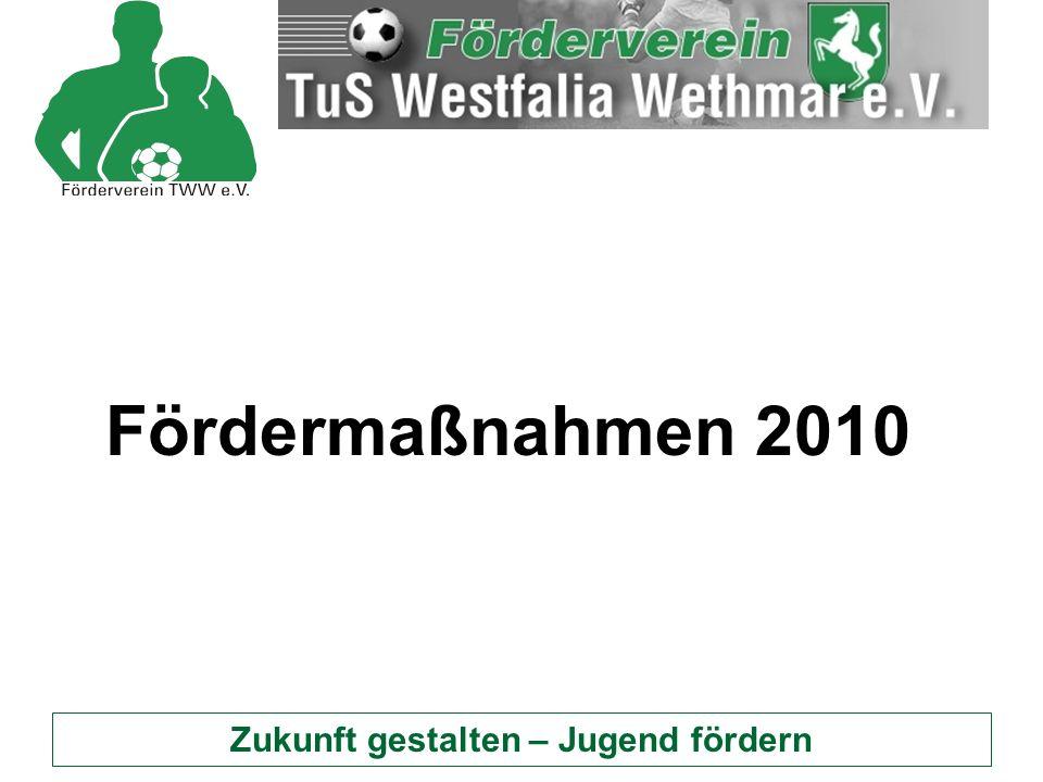 Zukunft gestalten – Jugend fördern Fördermaßnahmen 2010