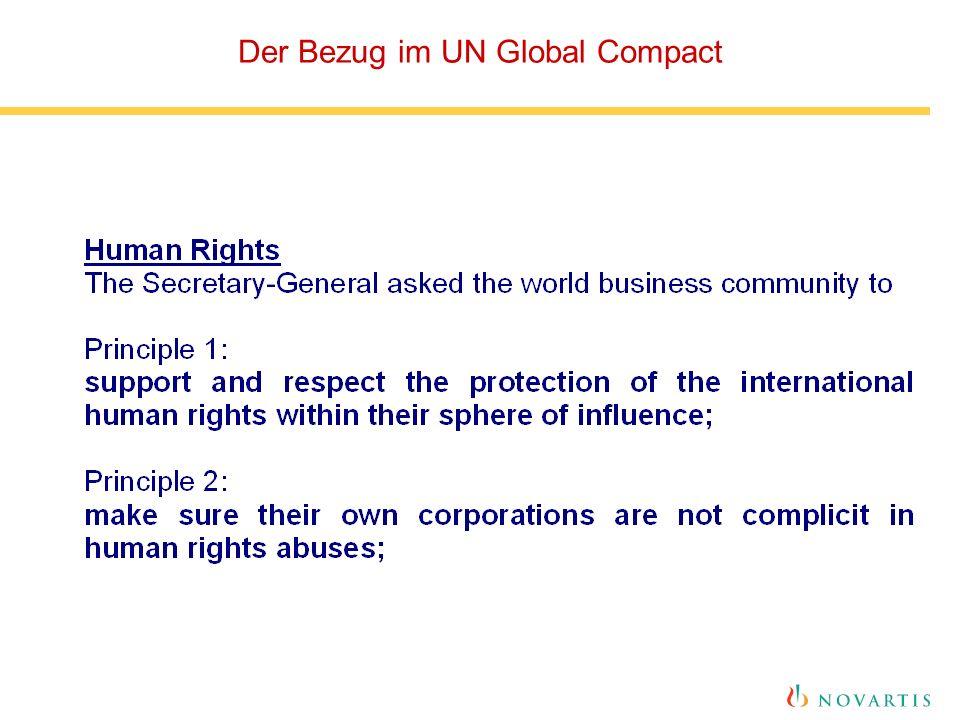 Der Bezug im UN Global Compact