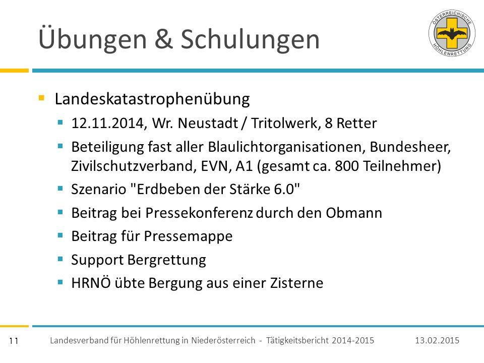 11 Übungen & Schulungen  Landeskatastrophenübung  12.11.2014, Wr.