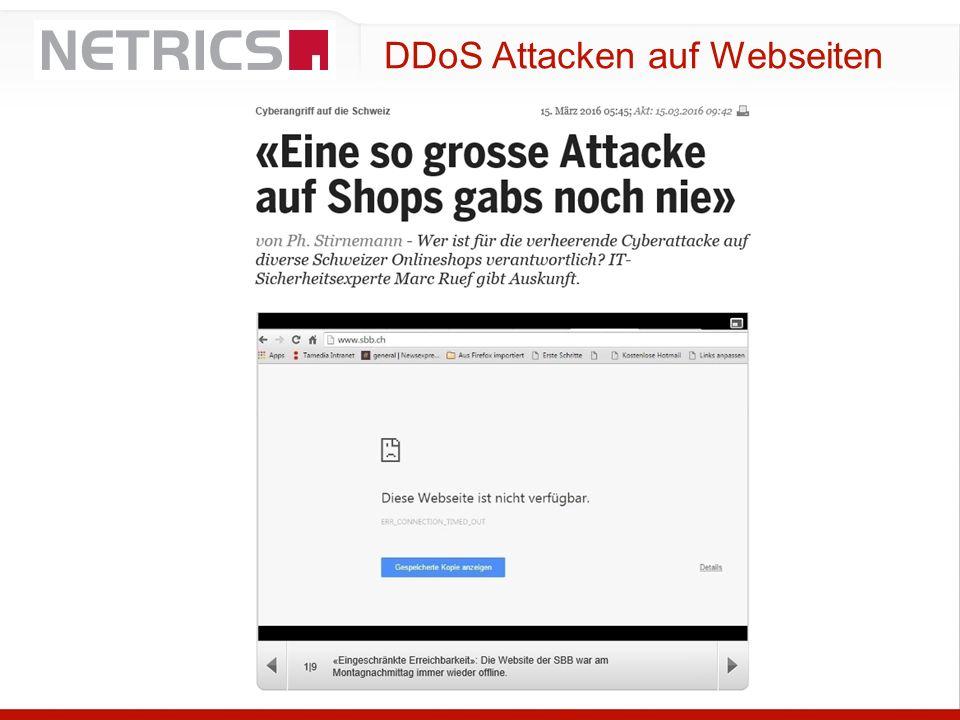 DDoS Attacken auf Webseiten