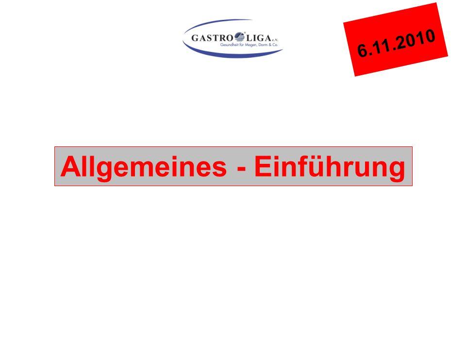 Allgemeines - Einführung 6.11.2010
