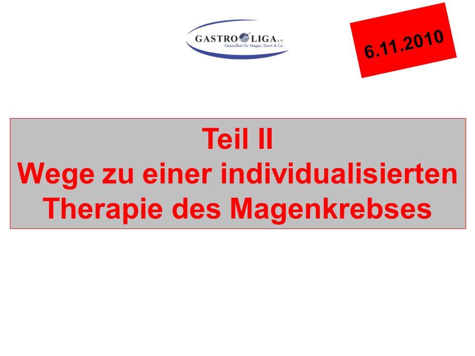Teil II Wege zu einer individualisierten Therapie des Magenkrebses 6.11.2010
