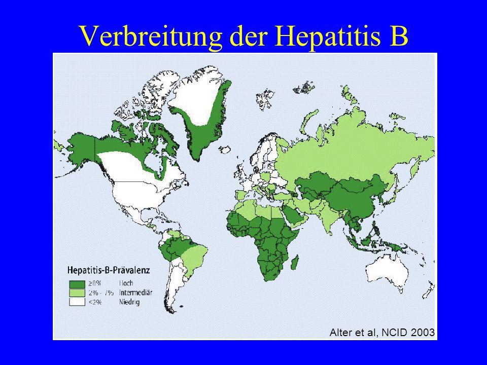 Verbreitung der Hepatitis B Alter et al, NCID 2003