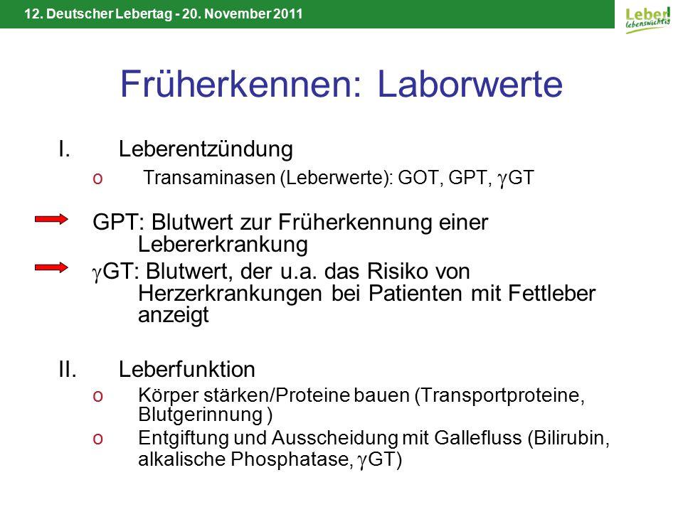 12.Deutscher Lebertag - 20. November 2011 Weitere Informationen Deutsche Leberhilfe e.V.
