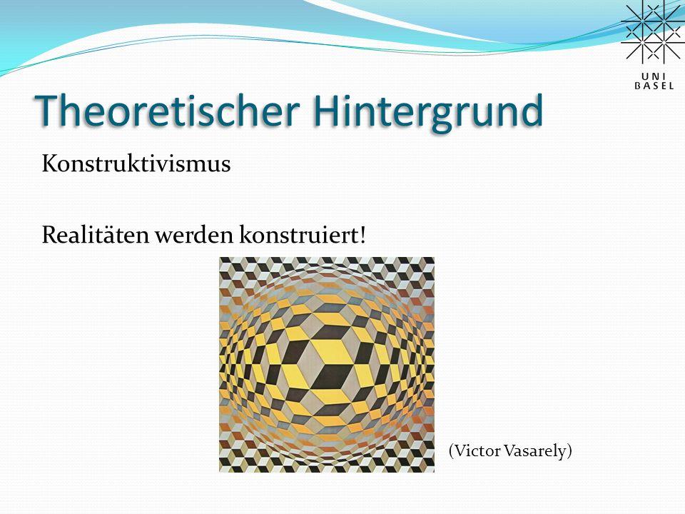 Theoretischer Hintergrund Konstruktivismus Realitäten werden konstruiert! (Victor Vasarely)