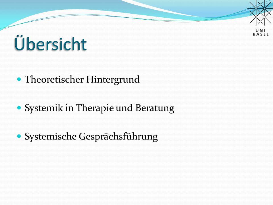 Theoretischer Hintergrund System – Systemtheorie Familientherapie – Systemtherapie  Theoretische Hintergründe systemischer Ansätze