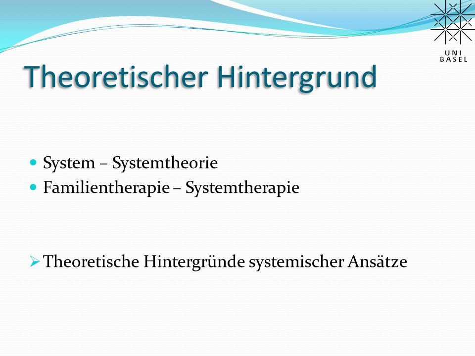 Theoretischer Hintergrund Systemtheorie