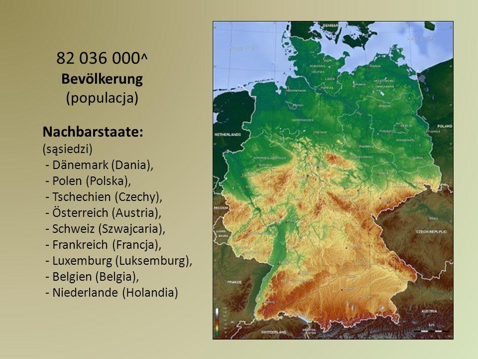 Nachbarstaate: (sąsiedzi) - Dänemark (Dania), - Polen (Polska), - Tschechien (Czechy), - Österreich (Austria), - Schweiz (Szwajcaria), - Frankreich (F