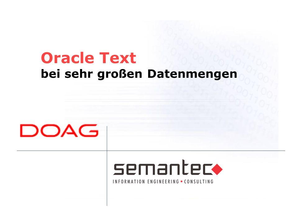 Oracle Text bei sehr großen Datenmengen
