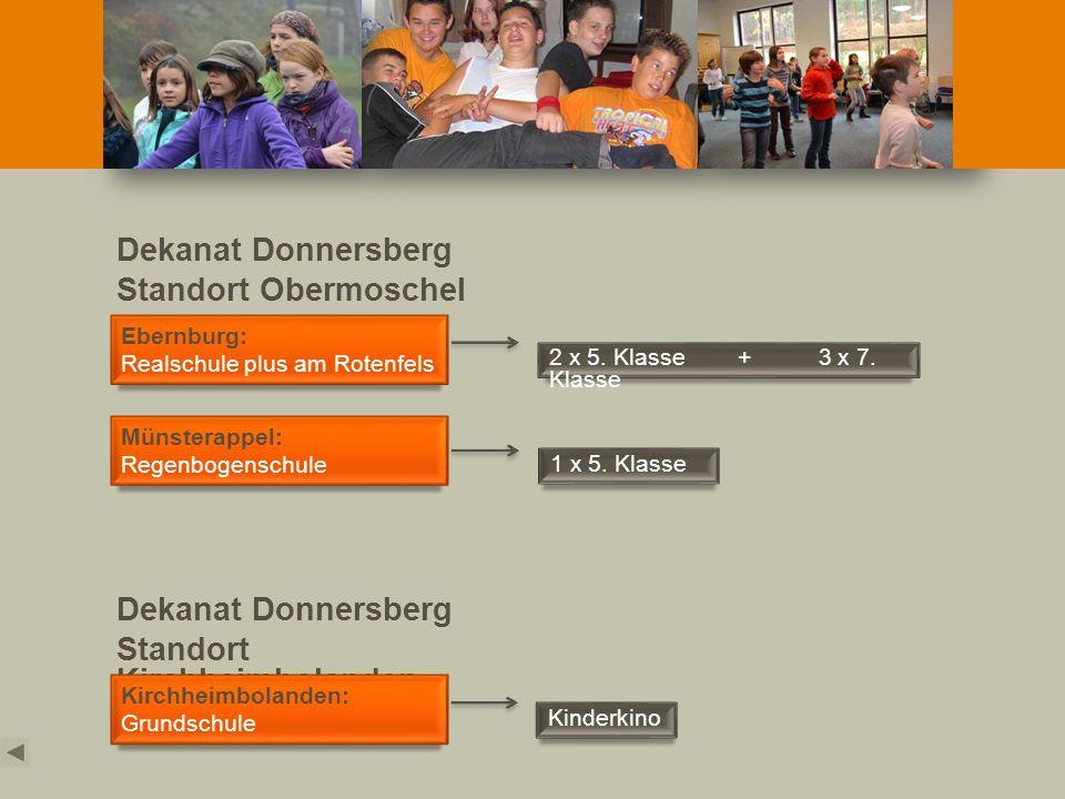 Dekanat Donnersberg Standort Obermoschel Dekanat Donnersberg Standort Kirchheimbolanden Kirchheimbolanden: Grundschule Kinderkino Ebernburg: Realschul