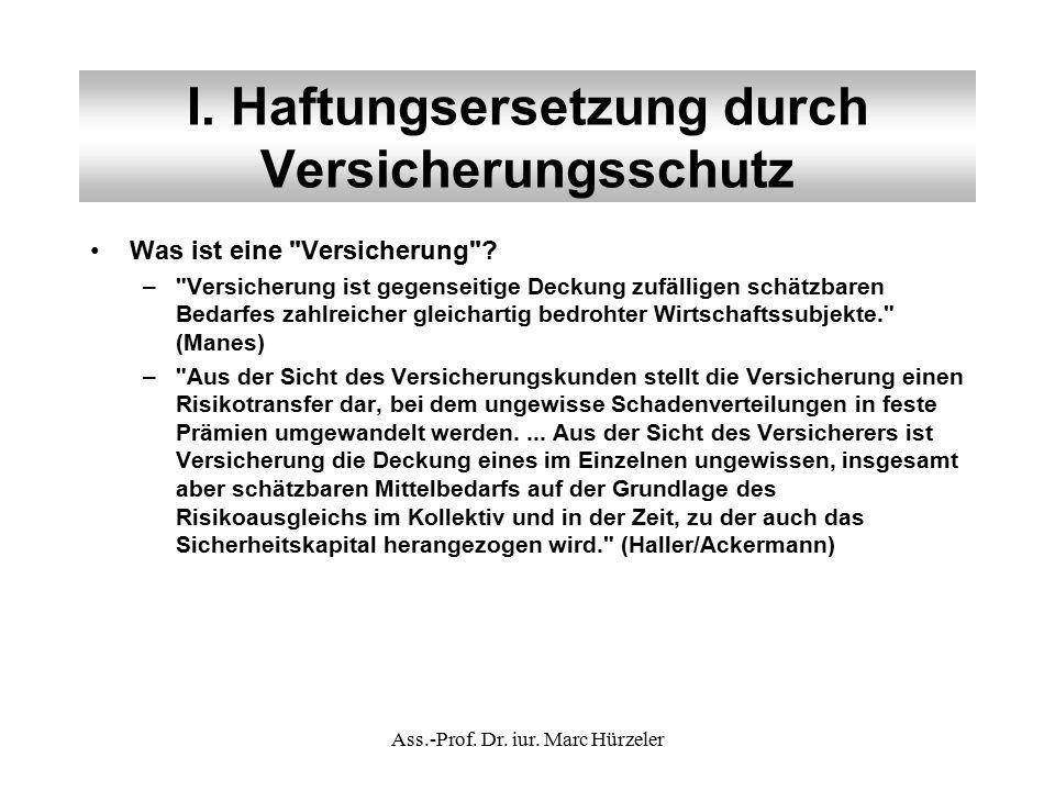 III.Die Sozialversicherungszweige Überblick:Überblick: –AHV / IV (1.