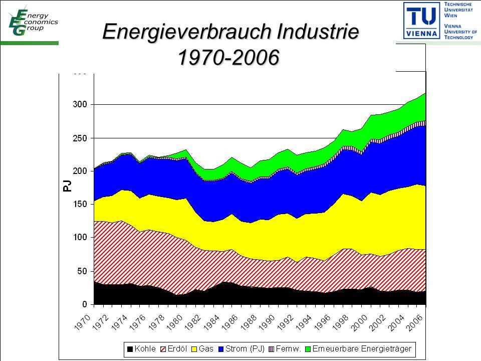 Energieverbrauch Industrie 1970-2006 Energieverbrauch Industrie 1970-2006
