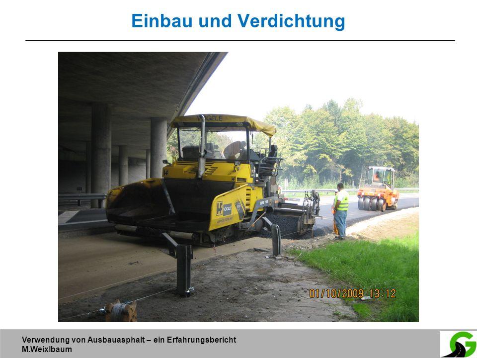Verwendung von Ausbauasphalt – ein Erfahrungsbericht M.Weixlbaum Einbau und Verdichtung
