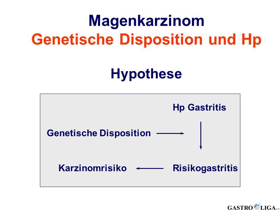 Magenkarzinom Genetische Disposition und Hp Hypothese Hp Gastritis RisikogastritisKarzinomrisiko Genetische Disposition