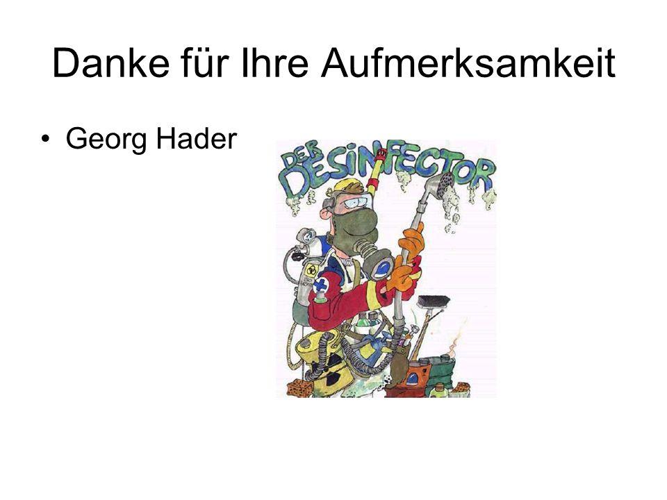 Danke für Ihre Aufmerksamkeit Georg Hader