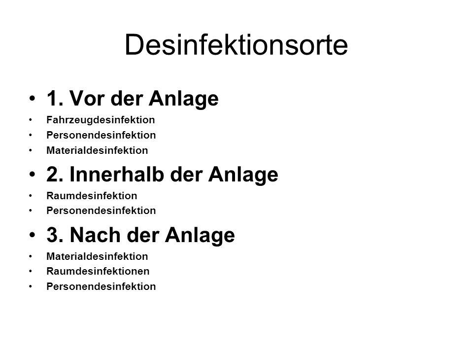 Desinfektionsorte 1.