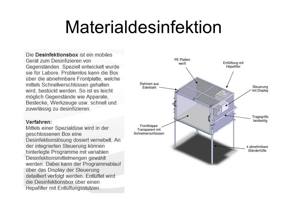 Materialdesinfektion