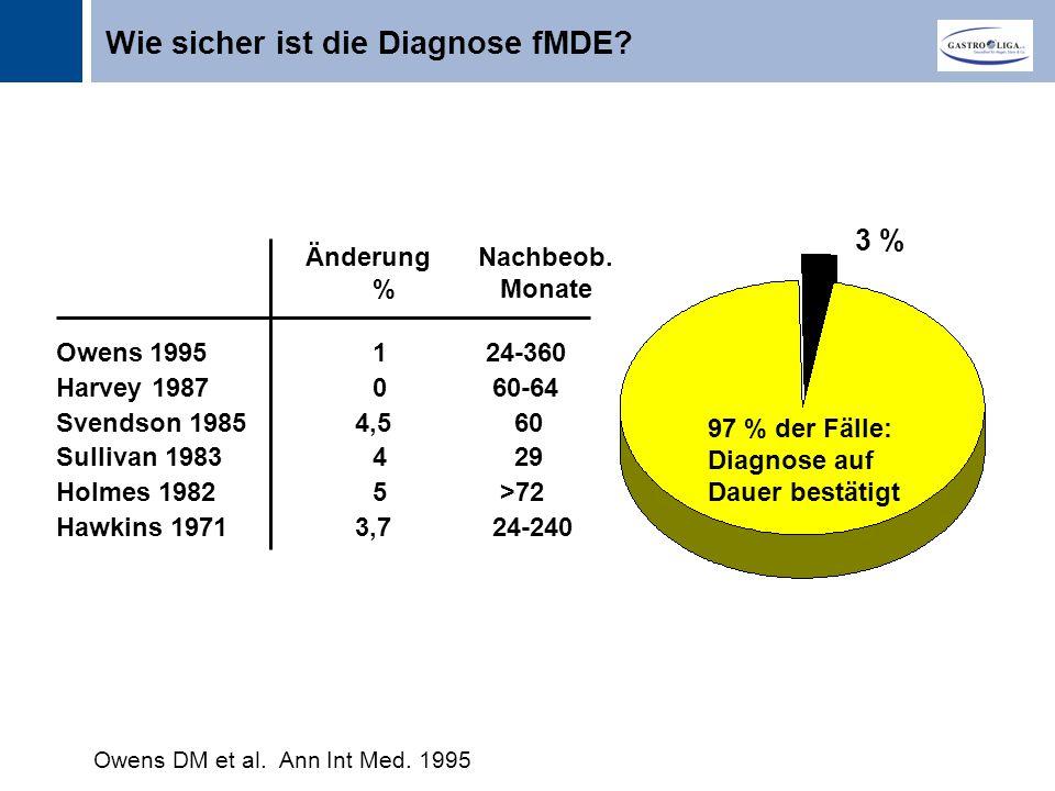 Titel 3 % 97 % der Fälle: Diagnose auf Dauer bestätigt Owens DM et al.