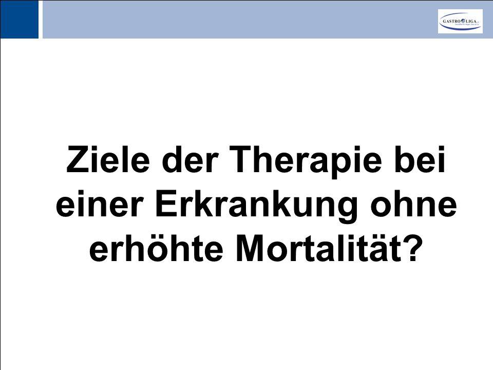 Titel Ziele der Therapie bei einer Erkrankung ohne erhöhte Mortalität?