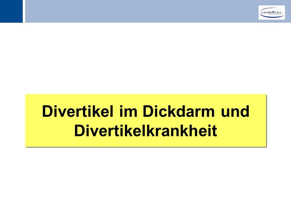 Titel Divertikel im Dickdarm und Divertikelkrankheit